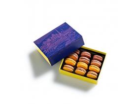 Coffret Macarons L'Heure Bleue 12 pièces