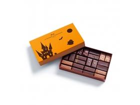 Coffret Maison Noir et Lait Halloween 24 chocolats