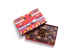 Coffret Maison Cracker Noir et Lait 110 Chocolats