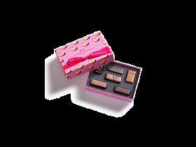 Passionately peach gesture gift box 6 chocolates