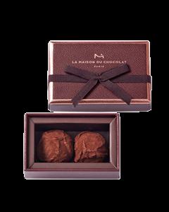 Plain Dark Chocolate Truffles 2 pieces
