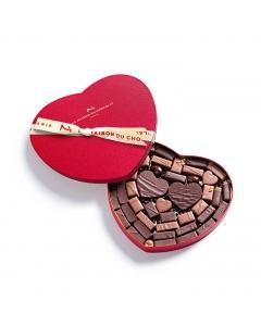 Coffret Cœur 45 chocolats