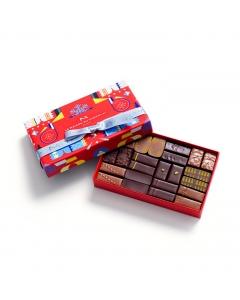 Coffret Maison Cracker Noir et Lait 24 Chocolats