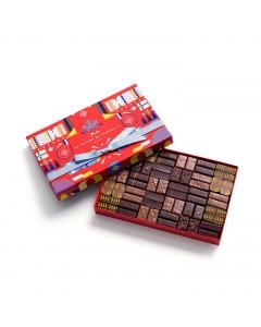 Coffret Maison Cracker Noir et Lait 60 Chocolats