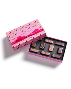 Passionately peach gesture gift box 10 chocolates