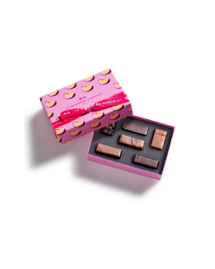 Passionately peach gesture gift box 6 chocolates