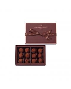 Plain Dark Chocolate Truffles 12 pieces