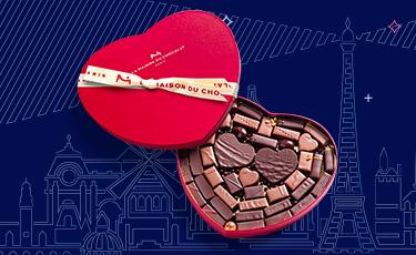 Coffret Coeur Heure Bleue - La Maison du Chocolat